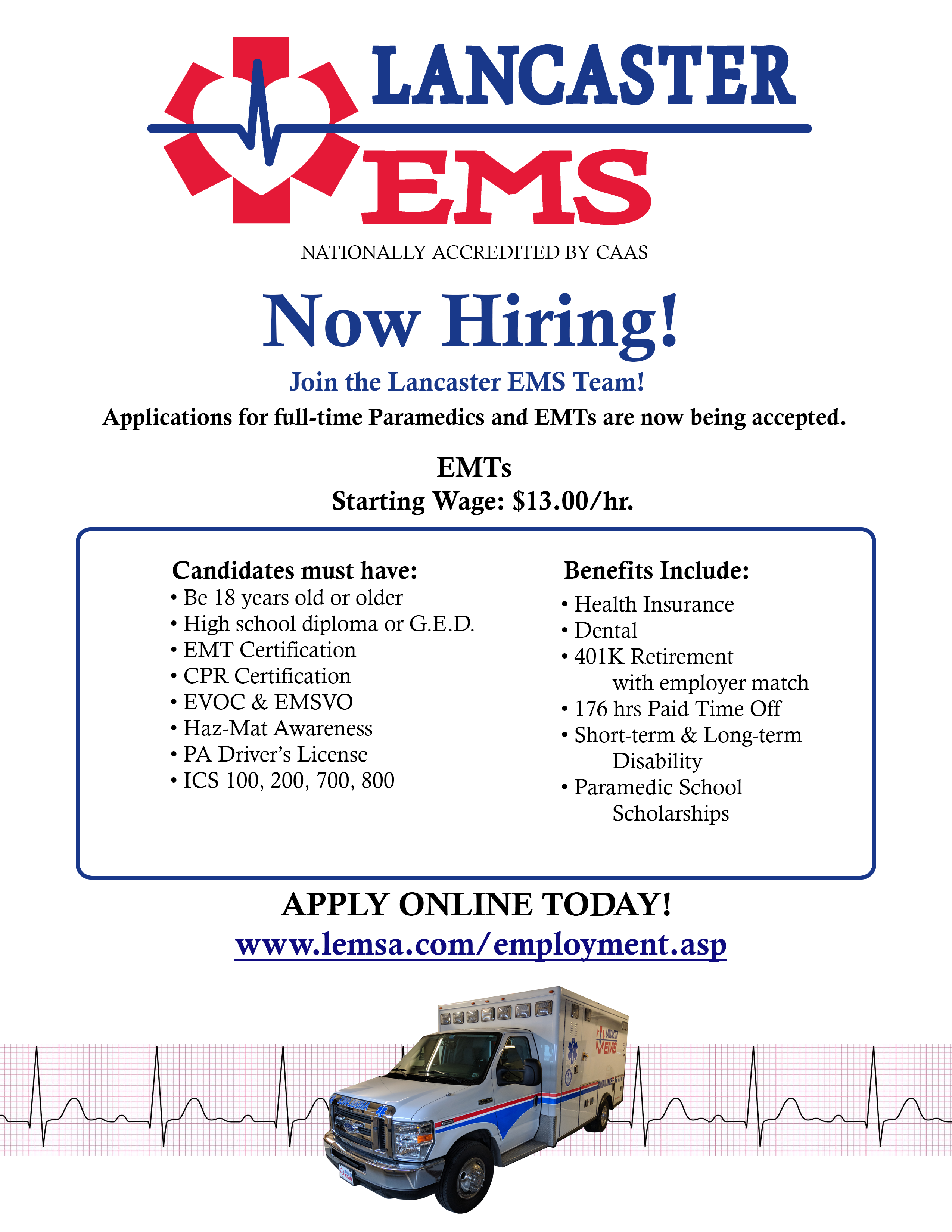 Careers – Seven Mountains EMS Council